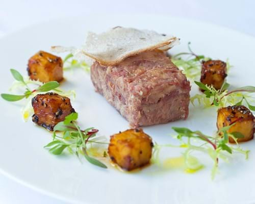 Adam Gray's Potted Gammon with Peppered Pineapple