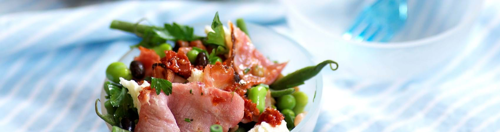 Bacon Salad With Beans And Herbs