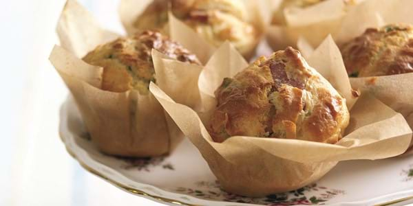 Bacon Muffins With Onion And Basil