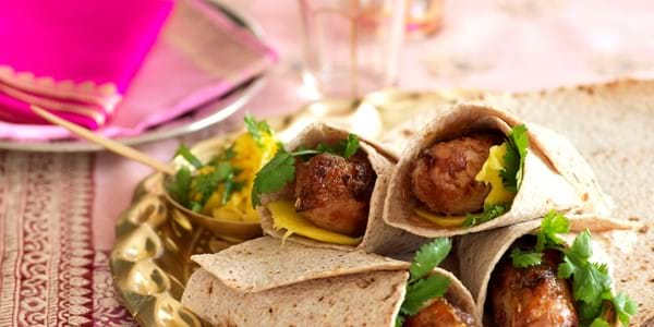 Bangers With Mango Chutney And Chapati