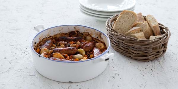 Chilli Sausage Casserole With Beans