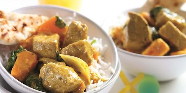 Coconut Pork Curry With Fresh Coriander