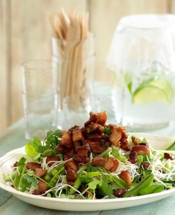 Crispy Pork And Noodle Salad With A Sweet Maple Dressing
