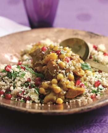 Gammon Ham Tagine With Pomegranate And Parsley Couscous