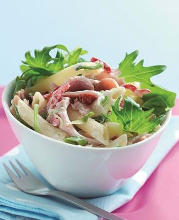 Gammon, Chilli And Coriander Pasta Salad