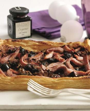 Gammon, Cranberry And Chestnut Tart