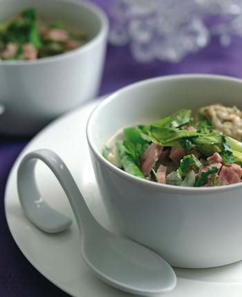 Gammon Ham Thai Green Broth With Coriander Dumplings