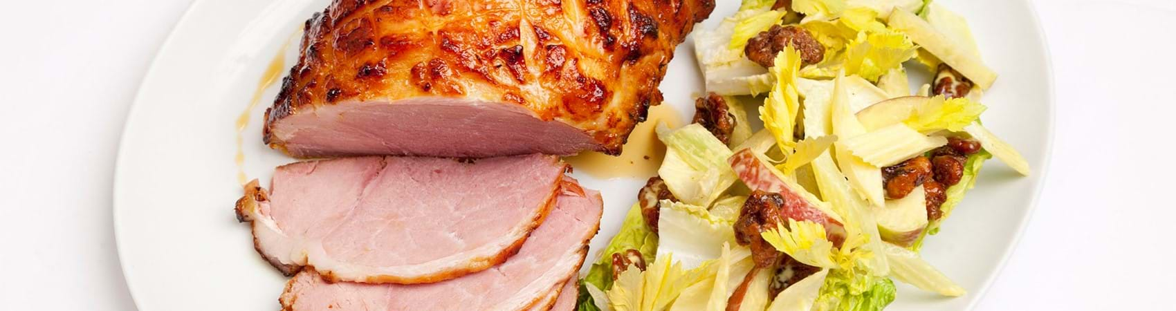 Gammon In Cider And Waldorf Salad