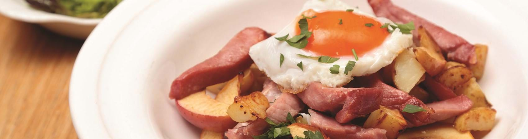 Potato Bake With Gammon And Apple