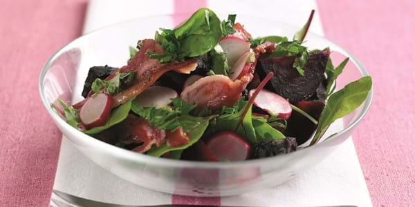 Maple Cured Bacon Spring Salad