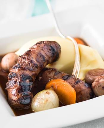 Pork And Leek Sausage Bourguignon
