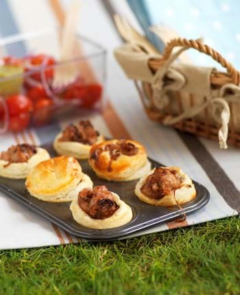 Mini Pork Pies With Caramelised Onion