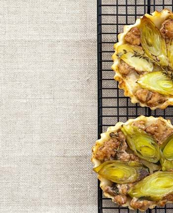 Mini Pork And Leek Tarte Tatin