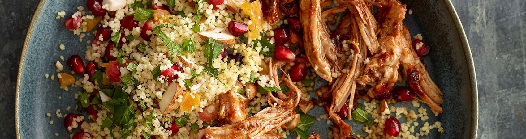 Pulled Pork With Fruity Couscous