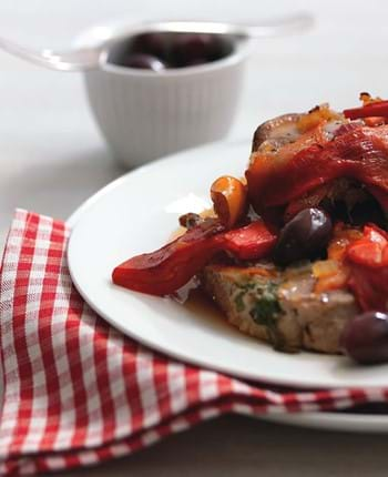 Phil Vickery's Baked Pork Steaks With Pepper And Olive Sauce