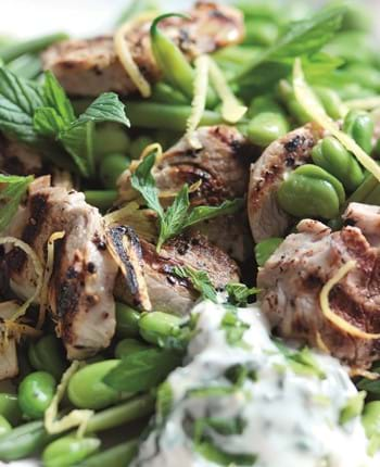 Pork Fillet Medallions With Green Bean Salad