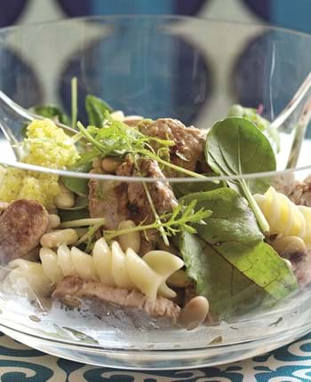 Pork Pasta Salad with Mango and Lime