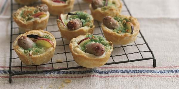 Pork Sausage Bakewells With Apple And Cheese