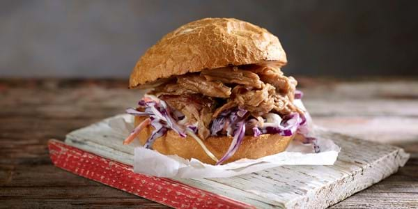 BBQ Pulled Pork Rolls With Coleslaw