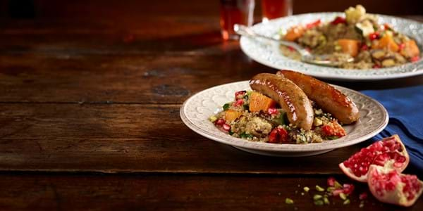 Pork Sausages With Quinoa Salad