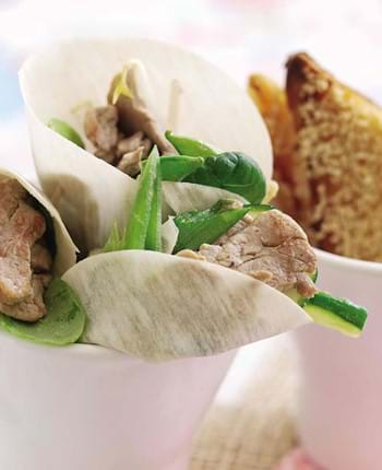 Thai Pork With Pak Choi And Pancakes