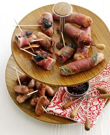 Bangers Wrapped In Sage And Ham