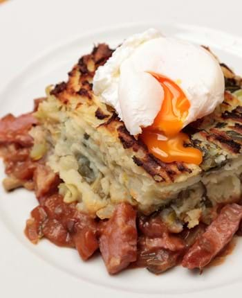 Bubble And Squeak Cottage Pie With Gammon