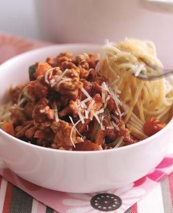 Sausage Bolognese With Courgettes