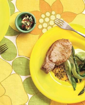 Griddled Pork Steaks With Passion Fruit Salsa