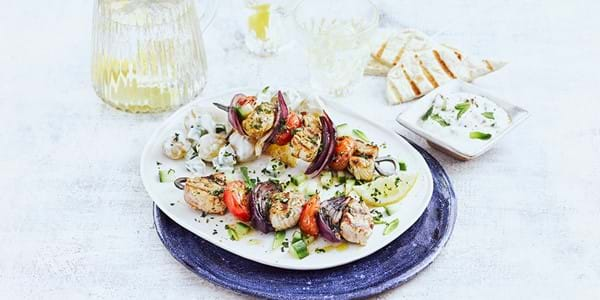 Greek-style Pork Skewers