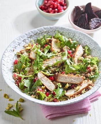 Pomegranate Pork Medallions with Quinoa