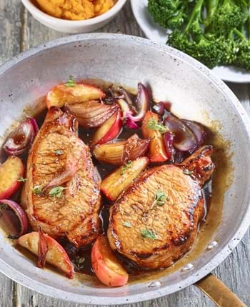 Balsamic Pork with Apples