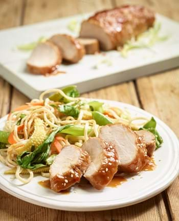 Miso glazed pork fillet
