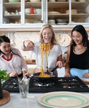 The Dumpling Sisters and Taming Twins get cooking with pork