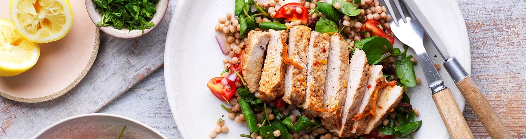 Cinnamon and Orange Pork with Wholegrain Couscous