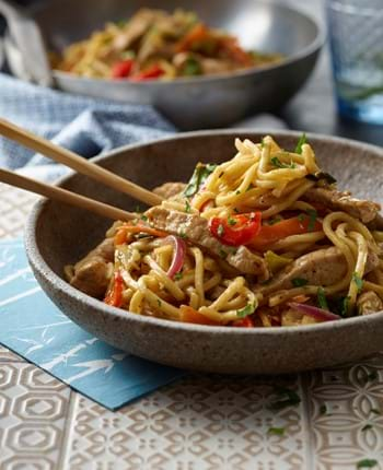 Pork Black Bean Noodle Stir-fry