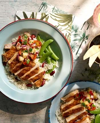 Caribbean Pork Medallions with Salsa