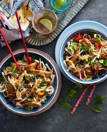 Sticky Pork Noodles