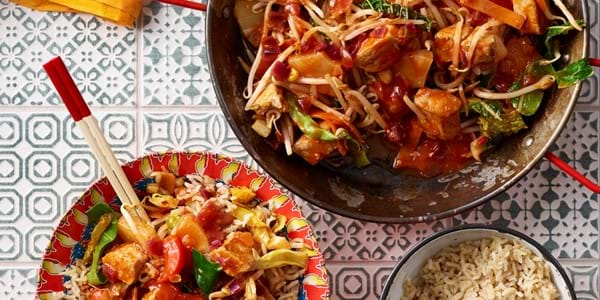 Healthy Sweet And Sour Pork Stir-Fry